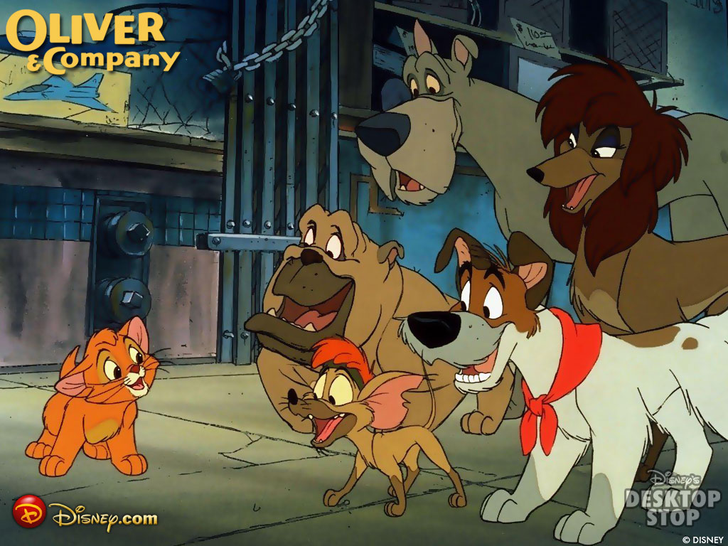 Oliver Company Cartoons Disney Wallpaper