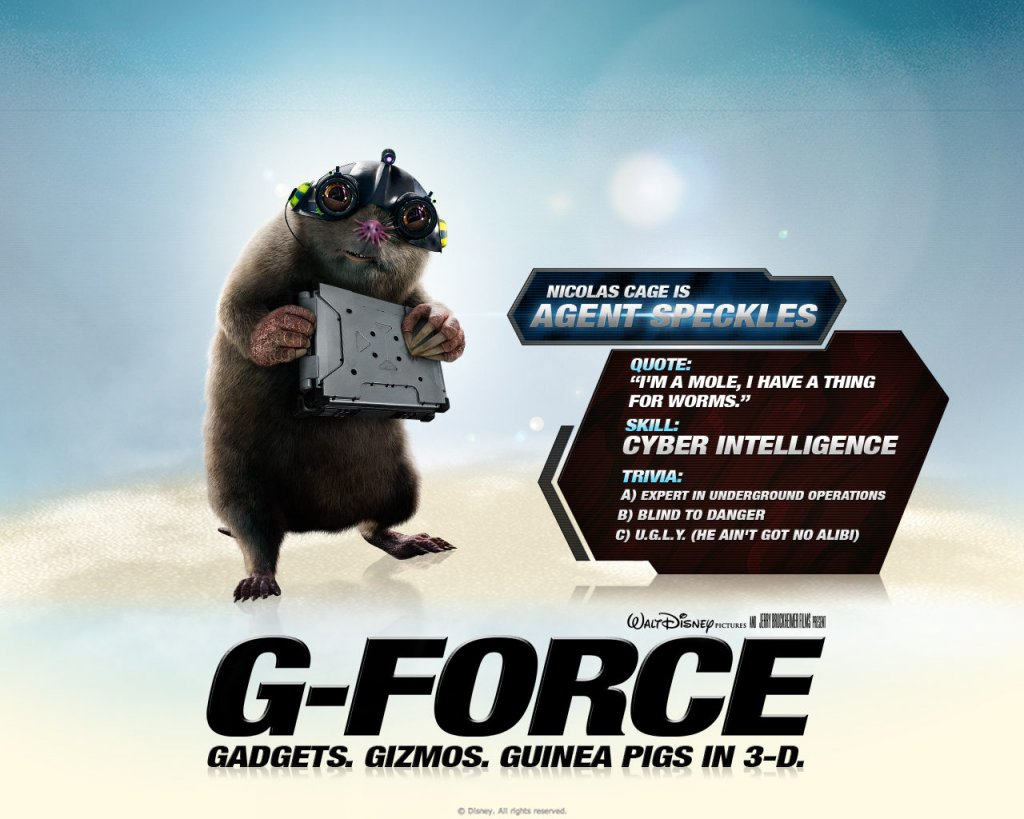 g force-agent-speckles
