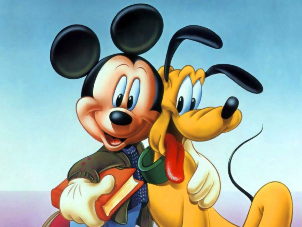 mickey pluto wallpaper