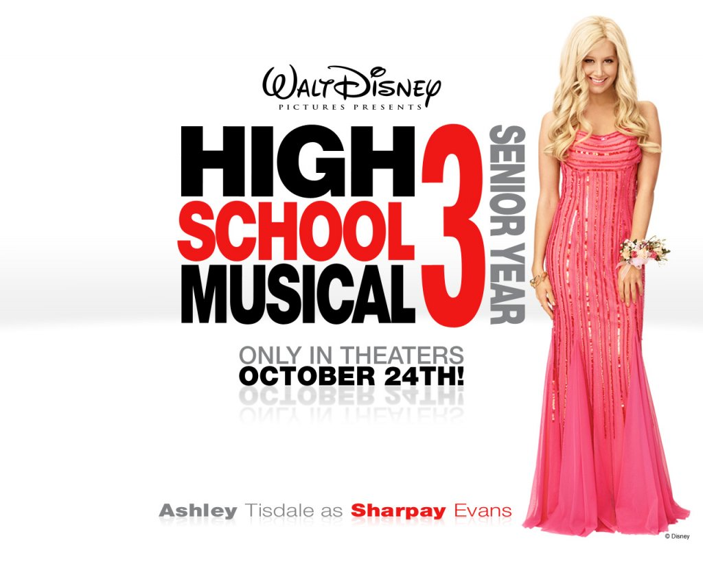 Disney-Wallpaper-Ashley Tisdale High School Musical 3 Wallpaper 1280x1024