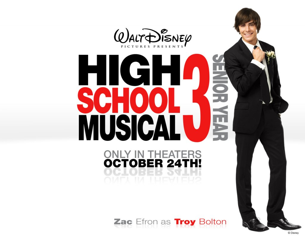 Disney-Wallpaper-Zac Efron in High School Musical 3- Senior Year Wallpaper