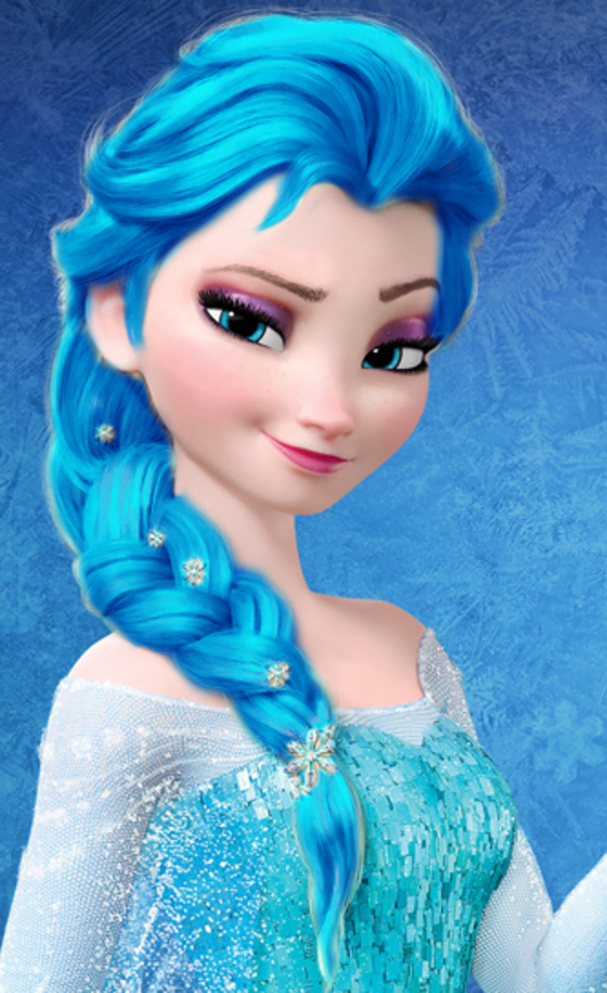 disney elsa blue hair